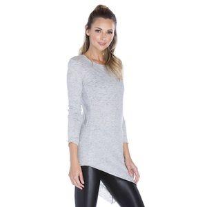Koral Activewear Gray Timeless Crewneck Tunic Top